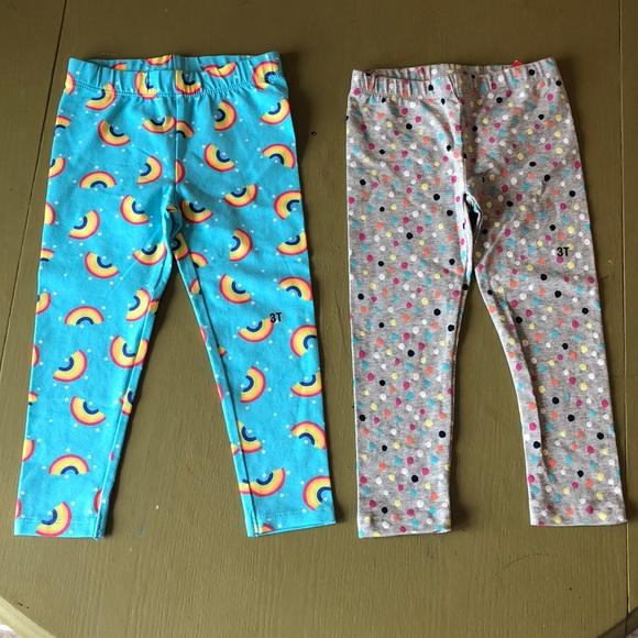 6fb3aaaec54c2 Wonderkids Bottoms | Girl Rainbow Polka Dot Leggings Size 3t | Poshmark